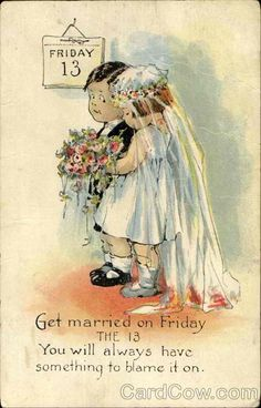 Would you get married on Friday the 13th? Let us know!