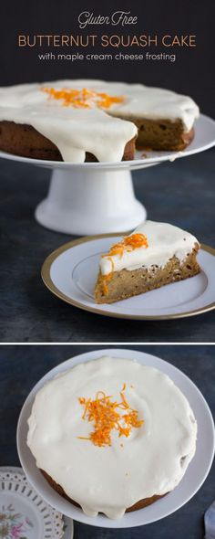You'll be craving this gluten free butternut squash cake with maple cream cheese frosting all season long. Spicy, moist, and so tasty, you can't go wrong. Easy Gluten Free Desserts, Best Gluten Free Recipes, Gluten Free Cakes, Gluten Free Baking, Healthy Desserts, Easy Desserts, Sweet Recipes, Delicious Desserts, Simply Recipes