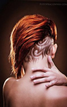 and the shave is perfectly with her natural growth >>> more hair art