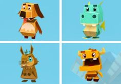 PAPERMAU: Monster Life - Four Paper Toys From Monster Life Game - by Gameloft