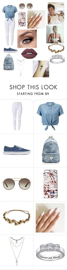 """""""Cameron Dallas"""" by delilahluna ❤ liked on Polyvore featuring Miss Selfridge, Vans, Prada, Marc Jacobs, Jennifer Behr, Hot Topic and Lime Crime"""