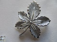 Silvertone Vintage Sarah Coventry Shiny Leaf by PECollectibles, $24.95