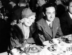 """Do you like the photo """"Irving Thalberg with Jean Harlow at Dinner Honoring U. Navy at Warner Brothers Studio, Old Movies, Great Movies, Irving Thalberg, Norma Shearer, Pre Code, Baby Jeans, Warner Brothers, Warner Bros, Jean Harlow"""