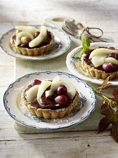 Schoko-Birnen-Tartelettes