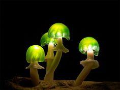 Mushroom Lamps - Neatorama
