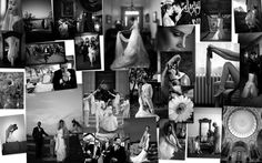 Black and white wedding photo collage