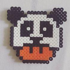 Panda mushroom hama beads by selmabeckett