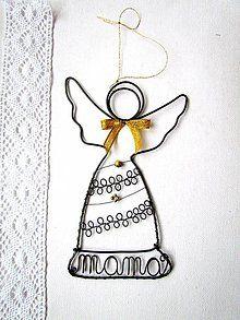 Dekorácie - mama - anjel - 6163044_