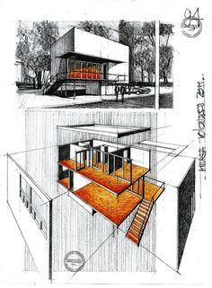 This is a slope house ( so a house situated on an uneven terrain) designed by architect J.P. Gauer. -3 perspective Enjoy!