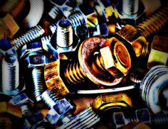 Nuts and Bolts Pop Art by DesignsbyAngela