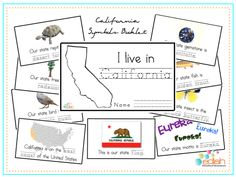 California State Symbols Booklets... Getting these for the kids... Best part of teaching them myself is teaching about the great state of California... Field trip home!