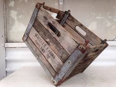 Antique Wooden Milk Crate  Berkeley Farms Oakland by InUseAgain