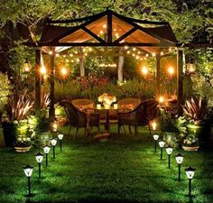 Party at Night in the Garden Wish I had a yard big enough to do this.