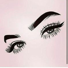 Lashes for days! Lash Quotes, Eyebrow Quotes, Lashes Logo, Eye Art, Eyelash Extensions, Eyelash Perm, Cute Wallpapers, Art Drawings, Sketches