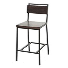 $117 ea Amazon -Olympia Metal Bar Stool with Black Cherry Wooden Seat and...