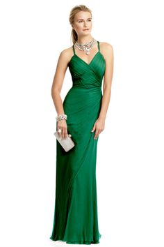 Carlos Miele, emerald gown. because I didnt get my invitation to that red carpet event.