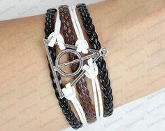 Deathly Hallows Bracelet Harry Potter by lifesunshine on Etsy, $5.99