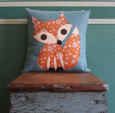 a must when I get to my recovering pillows project! Fox Pillow - it can go on Kaiah's chair in the livingroom