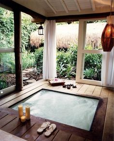 Screened porch - Sliding Doors & Curtains