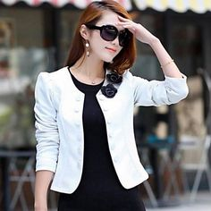 Korean Fashion Blazer Feminino Plus Size Long Sleeved Bleiser Mujer Casual 4 Colors Lovely Women Suits Blazers For Women, Suits For Women, Jackets For Women, Fall Jackets, Fall Blazer, Blazer Pattern, Blazer Fashion, Outerwear Women, Elegant Woman