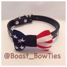 American Flag Dog / Cat Collar by BoastBowTies on Etsy, $12.00