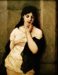 Vor der Arena (Before Arena) - Oil on canvas - Gabriel Cornelius Ritter von Max (1840–1915)