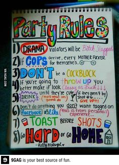 Funny pictures about Respect the party rules. Oh, and cool pics about Respect the party rules. Also, Respect the party rules. Frat Parties, Slumber Parties, Frat Party Themes, College Parties, Adult Slumber Party, College Party Games, College Fun, 18th Birthday Party Themes, Teen Parties