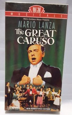 The Great Caruso MGM Musical VHS Movie New Sealed Tenor Mario Lanza Remastered