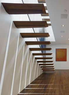 Image 12 of 24 from gallery of Taslimi Residence / Fleetwood Fernandez Architects. Photograph by Benny Chan Design 24, House Design, Design Ideas, Staircase Handrail, Staircases, Porches, Santa Monica, Stair Layout, Scandinavian Loft