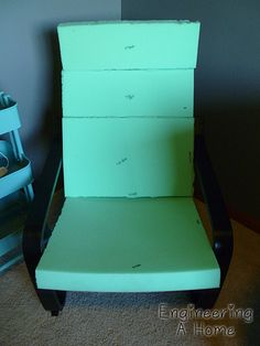 How to create a slipcover for a nursery Poang Chair