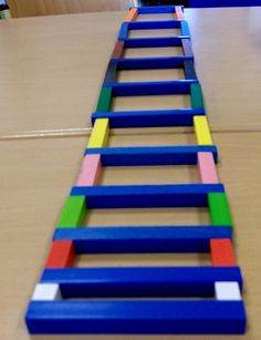 railway track of Cuisenaire rods