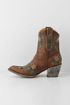 Floral boots.  Now all you need is warm weather and a sundress!