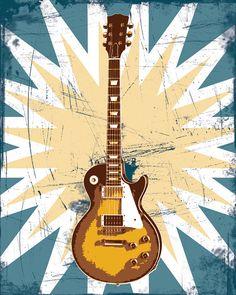 etsy guitar art