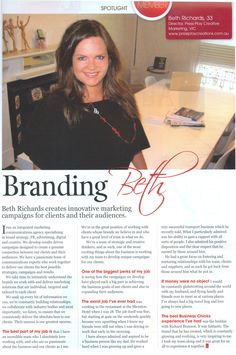 Business Chicks talks to Press Play Director, Beth Richards, in the popular Latte Magazine - http://www.pressplaycreations.com.au/blog/beth-richards-talks-to-latte-magazine.php