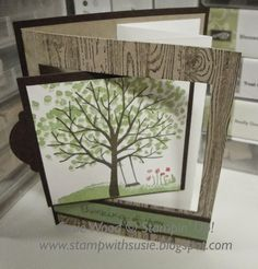 Stampin' Up!- A fun pull out swing card and the 'Sheltering Tree' stamp set!
