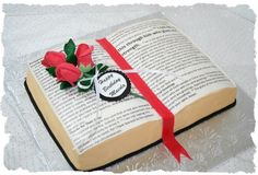 A Bible cake Bible Cake, Retirement Parties, Types Of Food, Cake Ideas, Wedding Cakes, Weddings, Birthday, Tableware, Party
