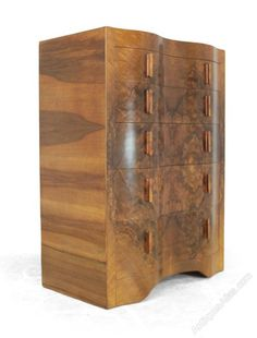 Serpentine front Art Deco Chest of Drawers