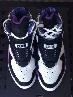 a1755bad7a0 Converse Cons Aerojam Aero Jam US 9.5 White Larry Johnson Charlotte Hornets  White Converse