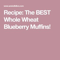 My recipe for the BEST whole wheat blueberry muffins. Enjoy all that blueberry delight! Whole Wheat Blueberry Muffins, Blue Berry Muffins, Muffin Recipes, My Recipes, Blueberry Delight, Yummy Food, Good Things, Treats, Desserts