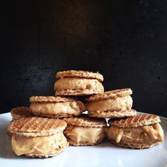 Stroopwafel Ice Cream Sandwiches with Homemade Speculoos Ice Cream