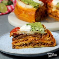 Triple Layer Fajita Cake is part of Vegan desserts Recipes Tasty - Vegan desserts Recipes Tasty Mexican Food Recipes, Beef Recipes, Cooking Recipes, Tasty Videos, Food Videos, Love Food, Food To Make, Food Porn, Meat Recipes