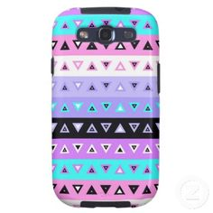 Triangles - Purple Samsung Galaxy S3 Phone Case