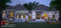 1 new message 3 Bedroom Bungalow, 3 Bedroom Flat, Modern Bungalow House Design, Bungalow Designs, Bungalow Floor Plans, House Plans With Photos, Detached House, Semi Detached, Ranch Style Homes