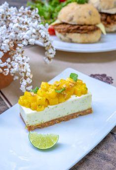 Mango cheese cake Non Bake Cheesecake, Great Recipes, Mango, Dishes, Baking, Drinks, Desserts, Food, Manga