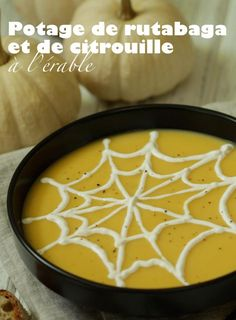 potagerutcit Courge Halloween, Rutabaga, Thai Red Curry, Food And Drink, Ethnic Recipes, Halloween Ideas, Cream Soups, Root Vegetables, I Like You