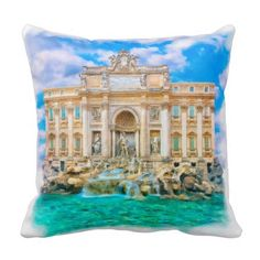 Rome - La Dolce Vita - Trevi Fountain Throw Pillow sold to a buyer from Beaconsfield, Australia