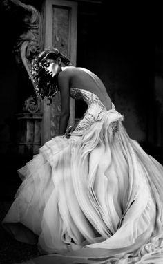 Incredible layered dress. #socialblissstyle #wedding