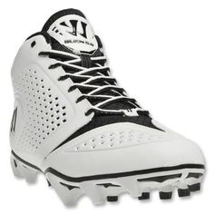 Stuffitts SPORT shoe inserts will keep these dry and fresh.  Warrior Burn 5.0 Speed Lacrosse Cleats Mid (White/Black)