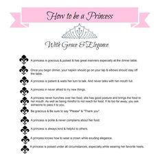 to be a princess etiquette training Vintage Modern, Etiquette Classes, Table Etiquette, Good Manners, Manners Kids, Act Like A Lady, Being A Lady, Lady Rules, Etiquette And Manners