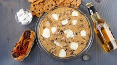 You'll be a game day hero when you combine all three in this Wisconsin-inspired dip. Creamy, warm and loaded with Cheddar cheese and cheese curds, it's best enjoyed with soft pretzel dunkers and a cold beer. Beer Bratwurst, Bratwurst Sausage, Beer Brats, Cheese Curds, Beer Cheese, Cheese Straws, Cheddar Cheese, Soft Pretzels, How To Cook Sausage
